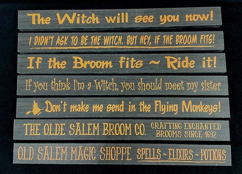 WOODEN WITCH SIGN