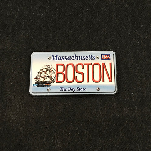 BOSTON LICENSE WOOD MAGNET