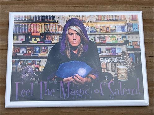 FEEL THE MAGIC OF SALEM METAL MAGNET