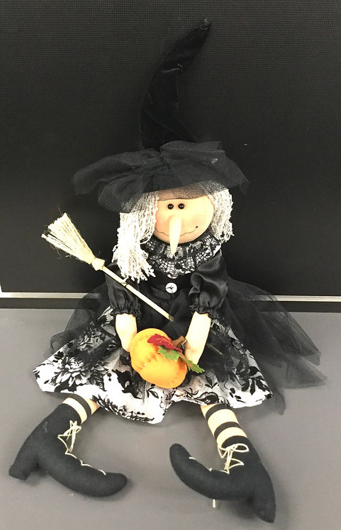 "24"" FLORAL KITCHEN WITCH"