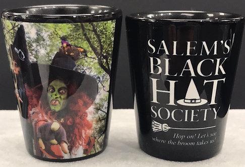 SALEM'S BLACK HAT SOCIETY SHOT GLASS