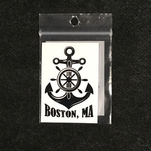 BOSTON ANCHOR VINYL STICKER