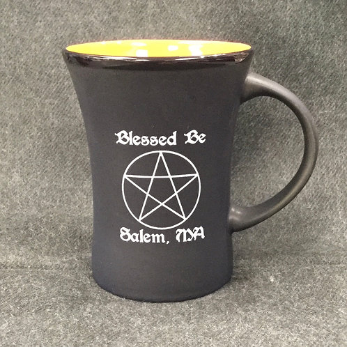 BLACK & ORANGE BLESSED BE MUG