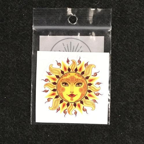 SUN FACE VINYL STICKER