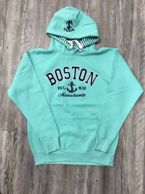BOSTON APP ANCHOR HOOD SWEATSHIRT