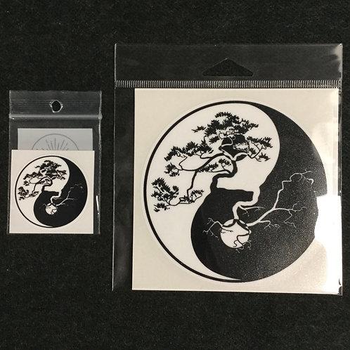 YING YANG TREE VINYL STICKER