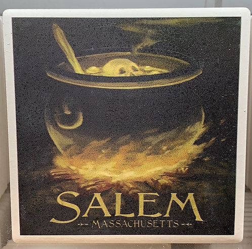 SALEM CAULDRON CERAMIC COASTER