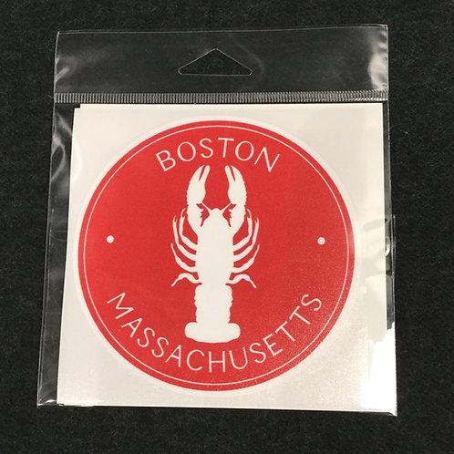 RED BOSTON LOBSTER VINYL STICKER