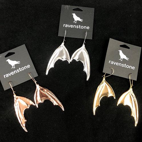 RAVENSTONE BAT WING EARRINGS