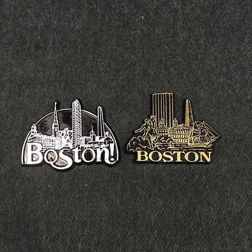 BOSTON SKYLINE RUBBER MAGNET