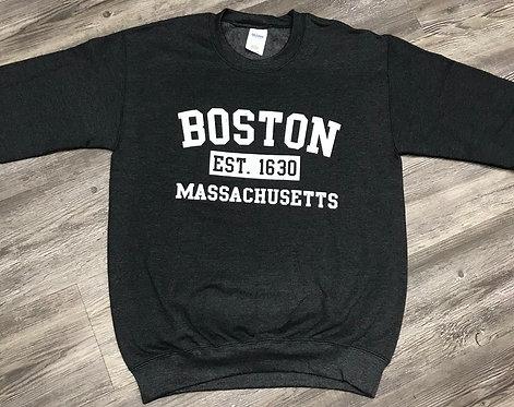 BOSTON EST 1630 CREW SWEATSHIRT