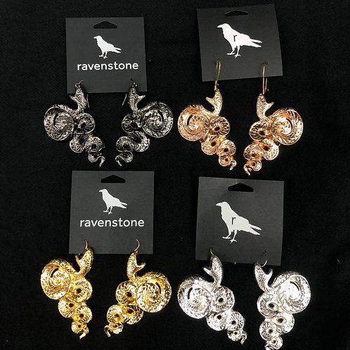 RAVENSTONE SLITHER EARRINGS