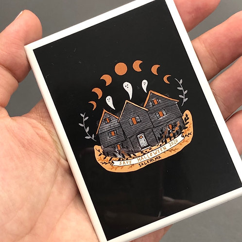 SAVE HALLOWEEN MAGNET