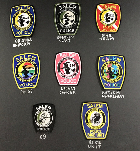 SALEM POLICE PATCH OFFICIAL (ASSORTED)