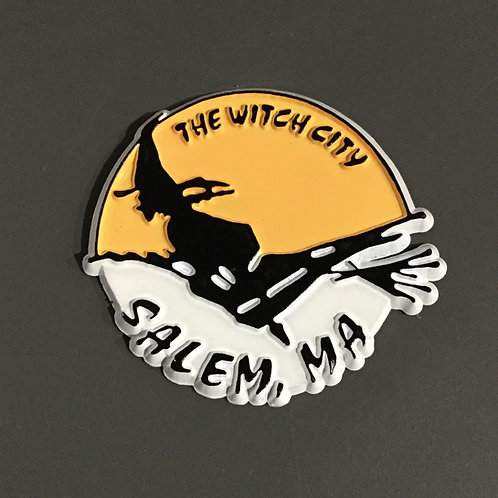 YELLOW/WHITE WITCH CITY MAGNET