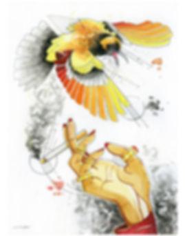 2019.WC.PR.11x14.SmokingOrangeBird.jpg