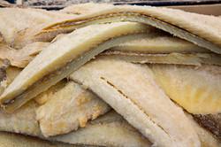 Bacalhau seco e ultracongelado
