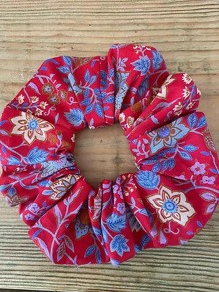 Liberty Scrunchie - Vintage Red Tana Lawn