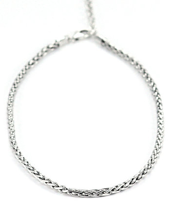 Bali Braided Link Silver Necklace