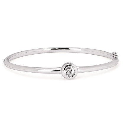 Shimmering Diamonds Bangle Bracelet