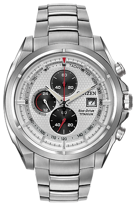 Chandler Stainless Steel Eco-Drive Watch