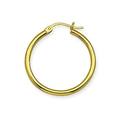 "14K Yellow Gold 1"" Hoop Earrings"
