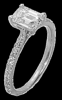 14K White Gold Diamond Shared Prong Engagement Ring .25 cttw