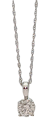 14K White Gold .41 ct. Diamond Pendant