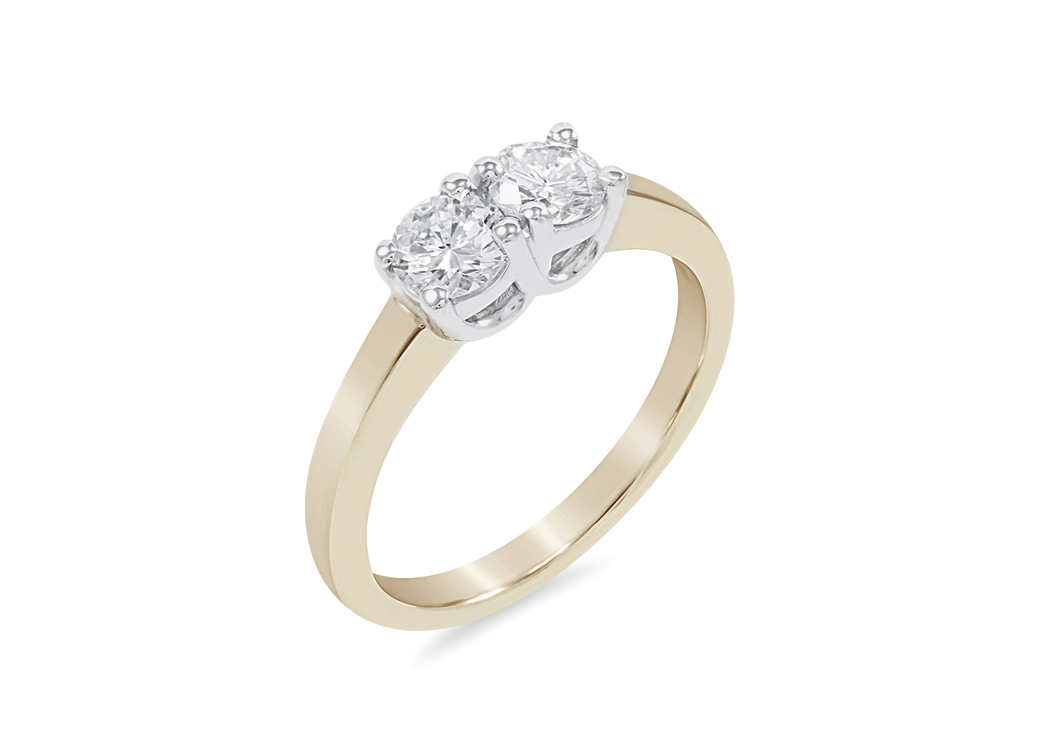 J. Frazee two stone ring3
