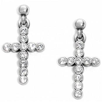 U R Loved Cross Post Drop Earrings
