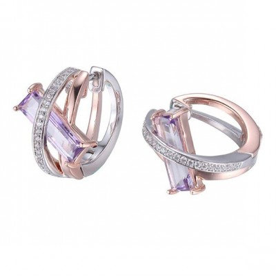 Sterling Silver & Rose Gold Plating with Mystic Quartz