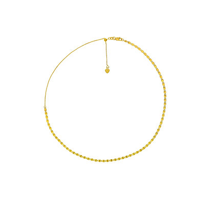 14K Yellow Gold Adjustable Choker Necklace