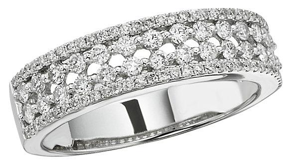 White 14 K Prong Set Anniversary Ring
