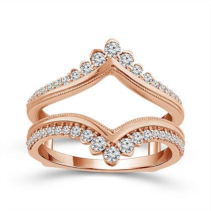10K Rose Gold Diamond Insert Ring