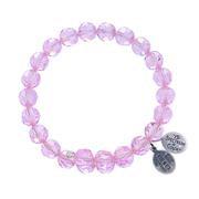 Pink Sapphire Crystal Wrap Bracelet
