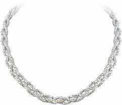 Braided Anvil Silver Tone Necklace