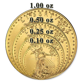 different size coins