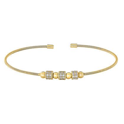 Sterling Silver Gold Finish Bangle Bracelet