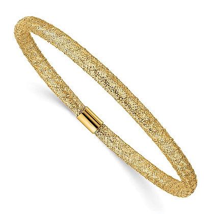 14K Yellow Gold Mesh Stretch Bracelet
