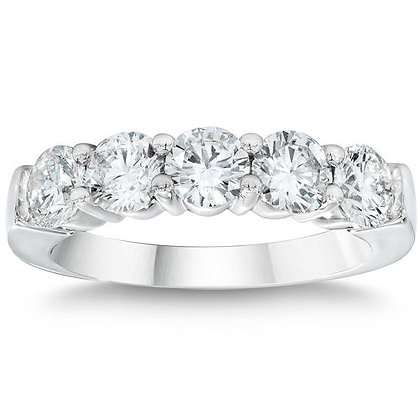 Five Diamond Share Prong Ring