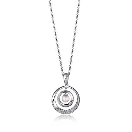 """Majestic Collection Sterling Silver Rhodium Plated 18"""" Necklace"""