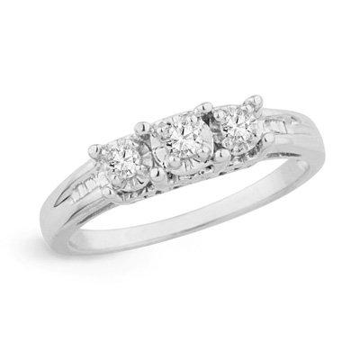 3 Stone Diamond Anniversary Ring