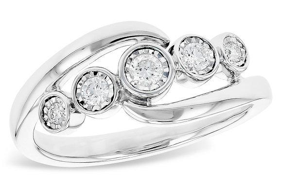 14K Bezel Set Diamond Fashion Ring