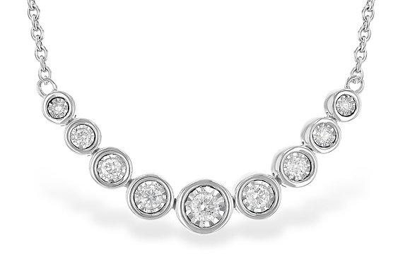 14K Bezel Diamond Necklace