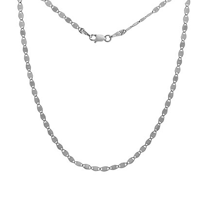 14K White Gold 2.7MM Valentino Necklace