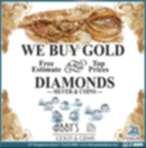 We buy gold, diamond, silver & coins.