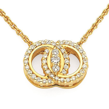 Diamond Marriage Symbol Pendant
