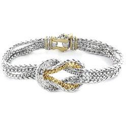 Silver-Tone Anvil Knot Bracelet