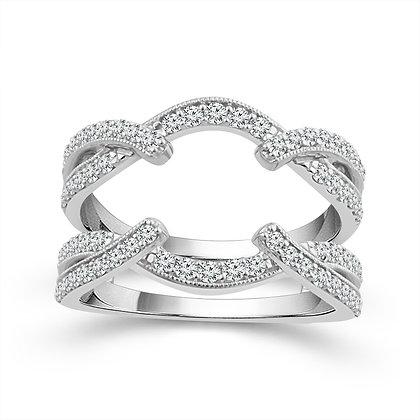 10K White Gold Diamond Insert Ring
