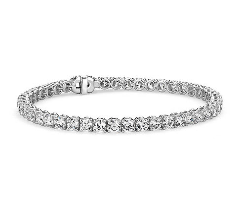 14K Gold 4 Prong Diamond Tennis Bracelet